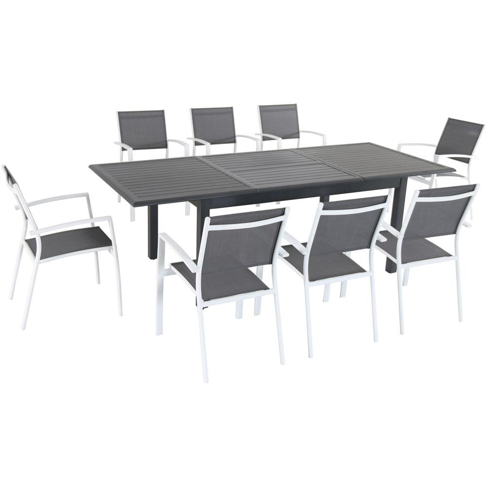 Cambridge Turner 9 Piece Aluminum Outdoor Dining Set With 8 Sling Dining  Chairs And A