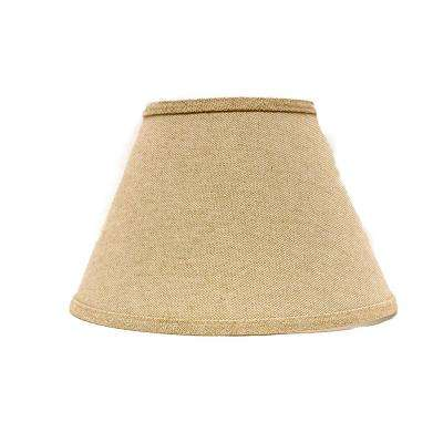 8 in. x 10.25 in. Neutral Brown Lamp Shade