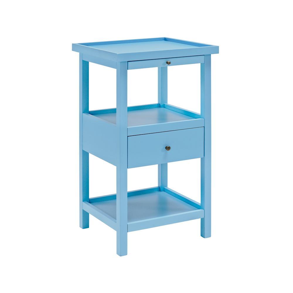 Powell Company Palmer Ocean Blue Table With Shelf 16a8255b