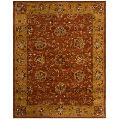 Heritage Red Natural 9 Ft X 12 Area Rug