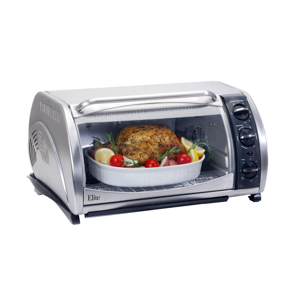 Elite 6-Slice Toaster Oven in Stainless Steel