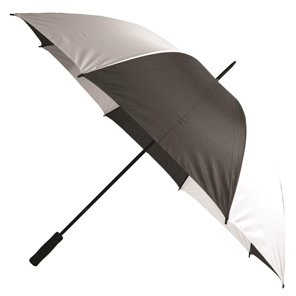 26518432ff92 Details about Golf Umbrella in Black and White Rain Coverage Safety  Protection Firm Grip 60