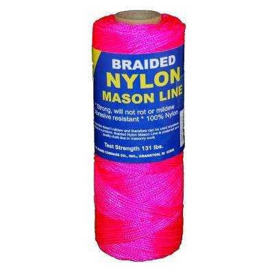 #1 x 500 ft. Braided Nylon Mason in Pink