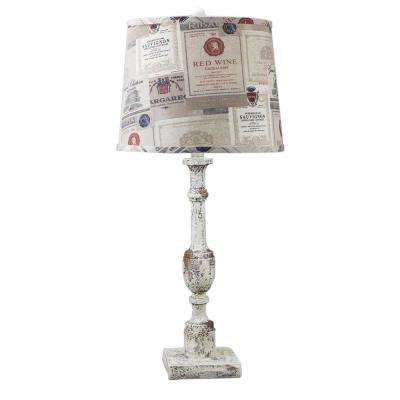 30 in. Multi-Colored Table Lamp