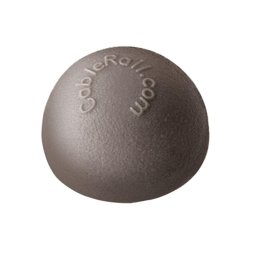 CableRail 7/16 in. Plastic Gray Dome End Cap for Cable Railing System (10-Pack)