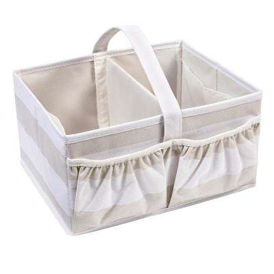 3.5 Gal. Stripped Open-Top Diaper Storage Tote