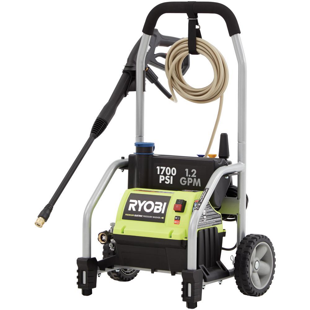 RYOBI 1,700 PSI 1 2 GPM Electric Pressure Washer