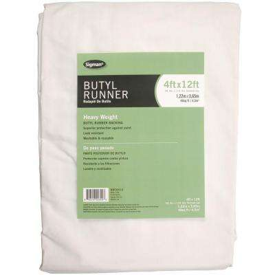 3 ft. 9 in. x 11 ft. 9 in. Butyl Drop Cloth Runner