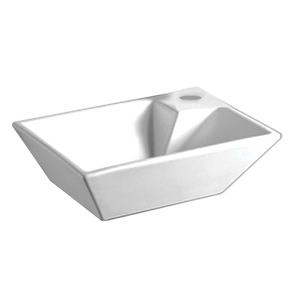 Whitehaus Collection Isabella Wall-Mounted Bathroom Sink in White