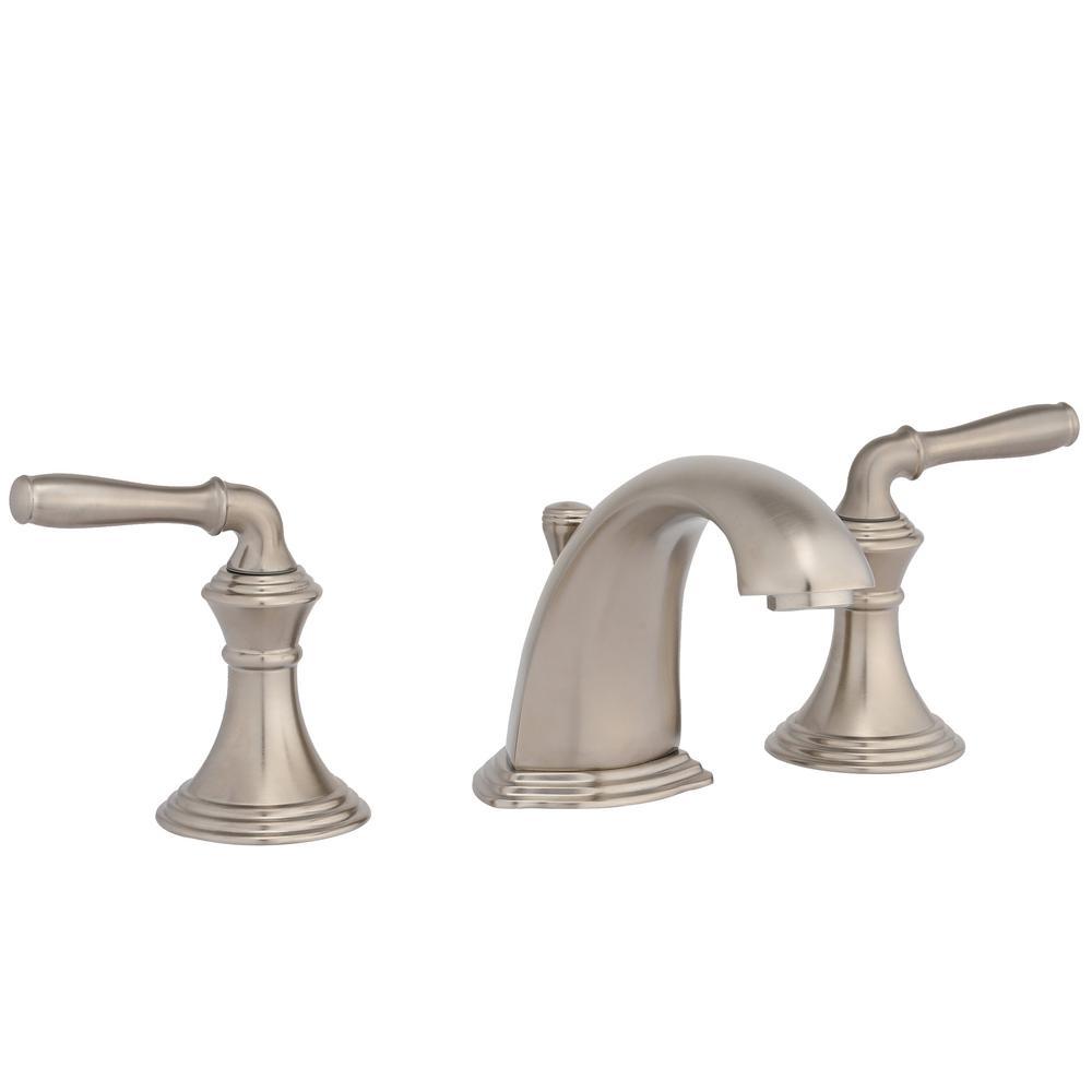 Kohler devonshire 8 in widespread 2 handle low arc - Brushed nickel bathroom sink faucet ...