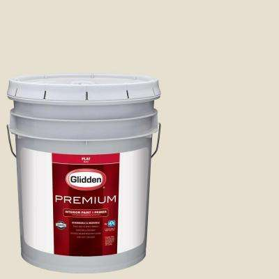 5 gal. #HDGWN57 Meeting House White Flat Interior Paint with Primer