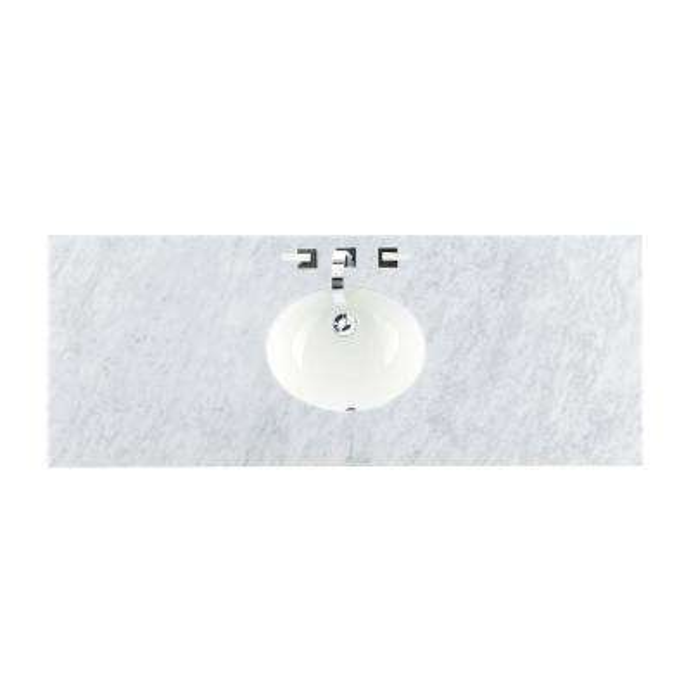 60 in. W Marble Single Basin Vanity Top in Carrara White