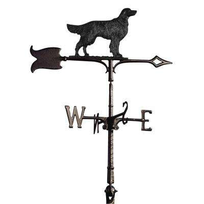 30 in. Black Golden Retriever Weathervane