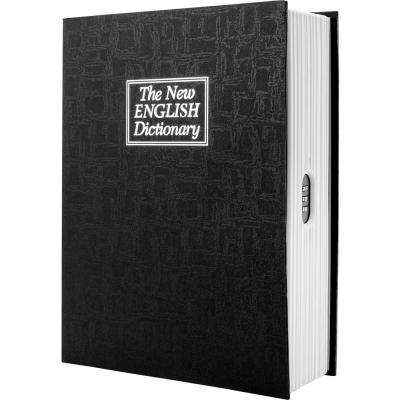 0.08 cu. ft. Steel Dictionary Book Lock Box Safe with Combination Lock, Black