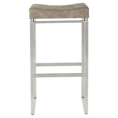 Sherese 30 in. Retro Taupe Counter Stool (2-Pack)