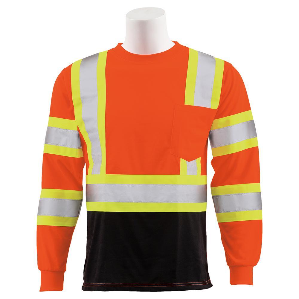 9804SBC Large HVO/Black Polyester Safety T-Shirt