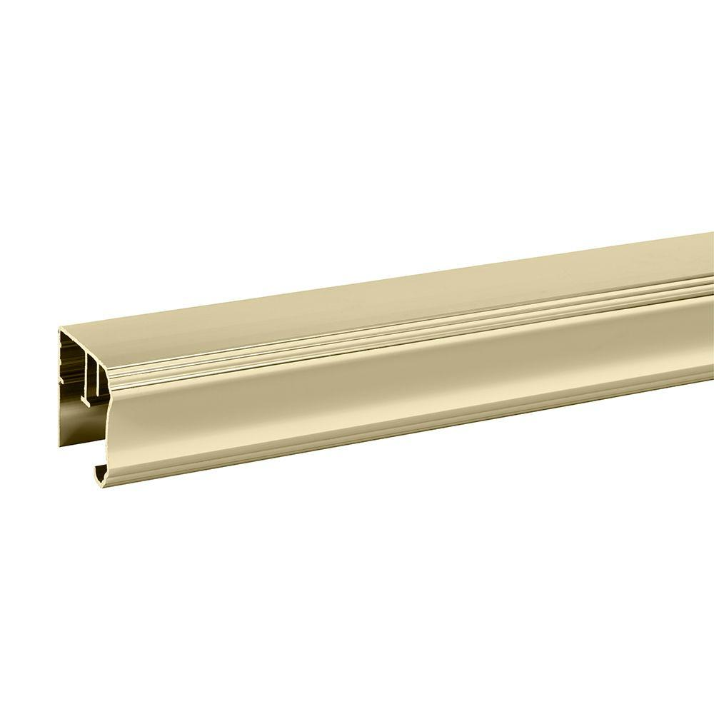 31 in. Semi-Frameless Pivot Shower Door Track Assembly Kit in Polished
