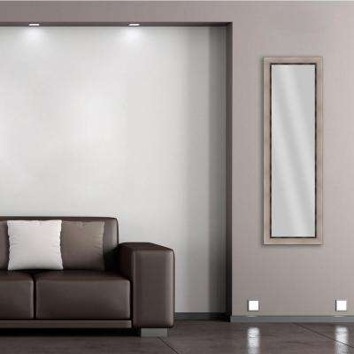 52.25 in. x 16.25 in. Champagne Framed Mirror