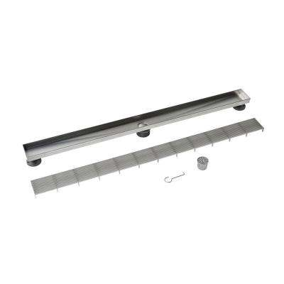 40 in. Stainless Steel Linear Drain Wedge Wire Grate