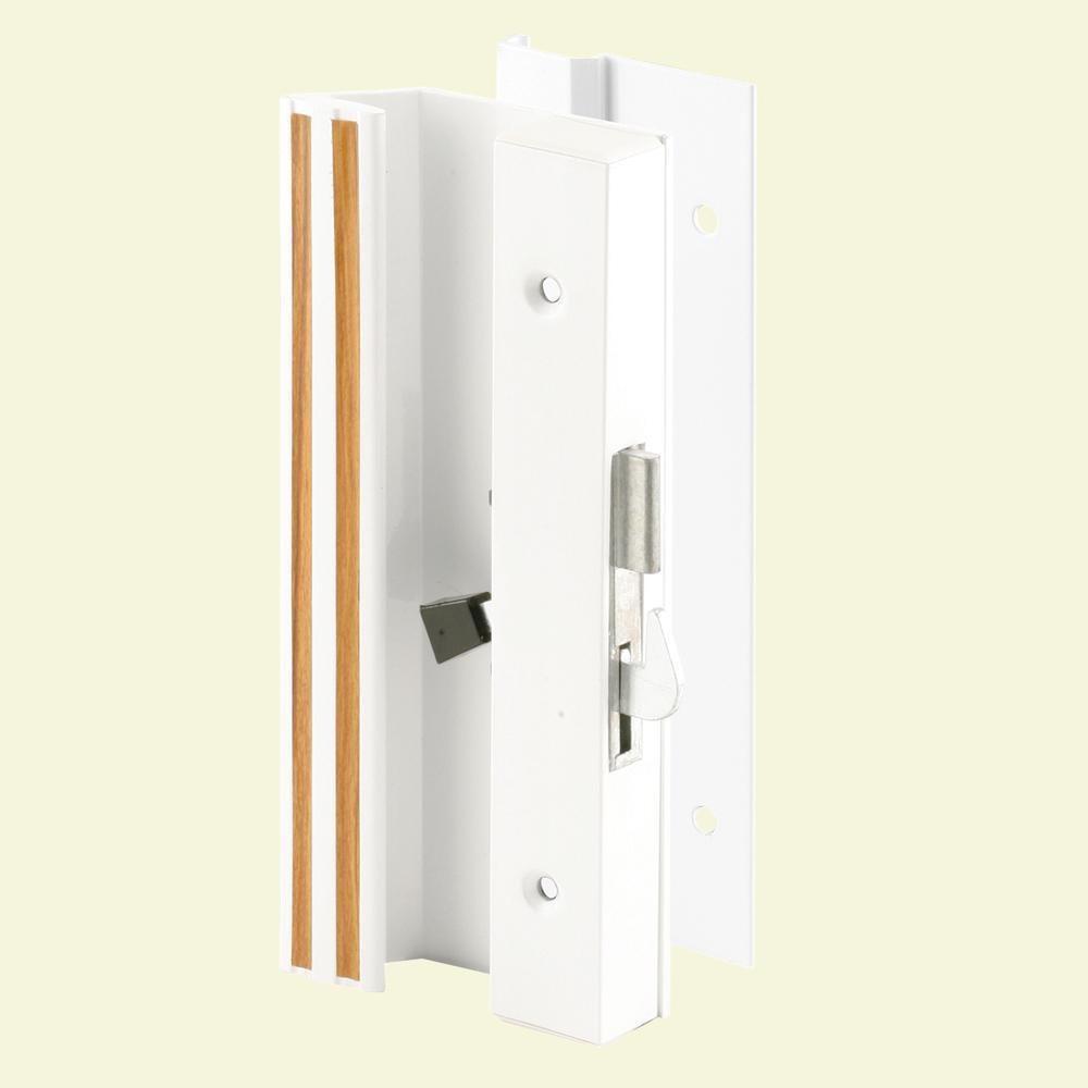 Low Profile/Low Base White Aluminum Latch Handle