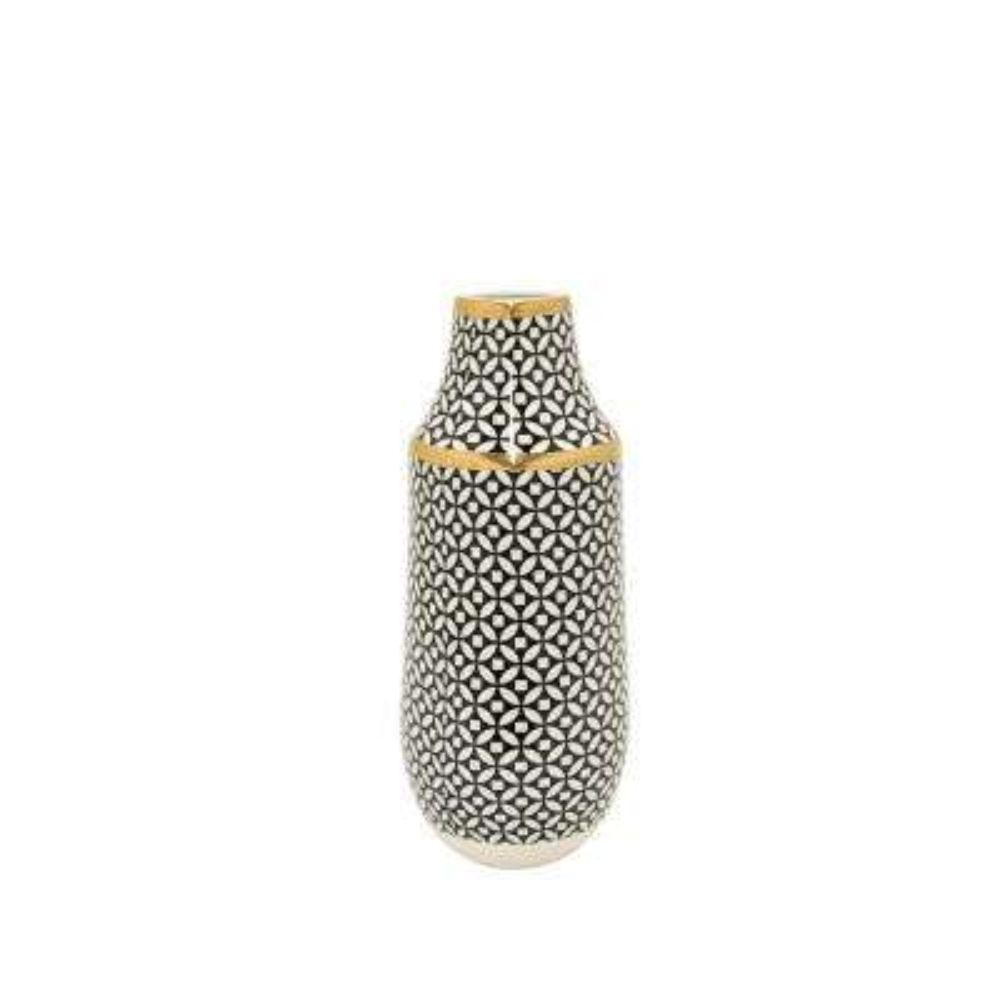 Black and Gold Decorative Vase