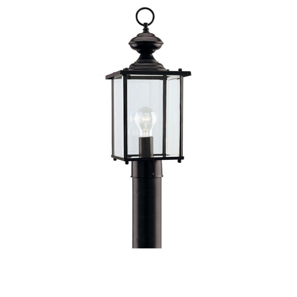 Jamestowne 1-Light Black Outdoor Post Top