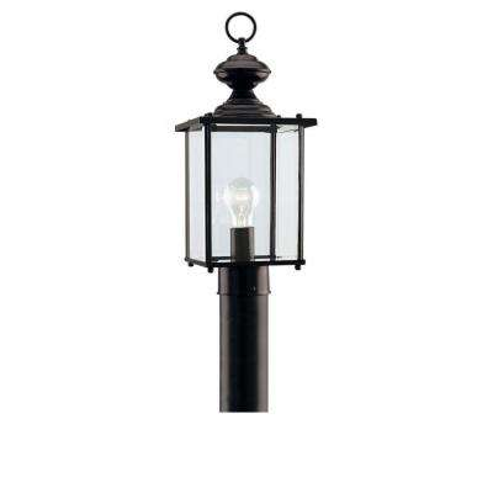Jamestowne 1-Light Black Outdoor Post Top