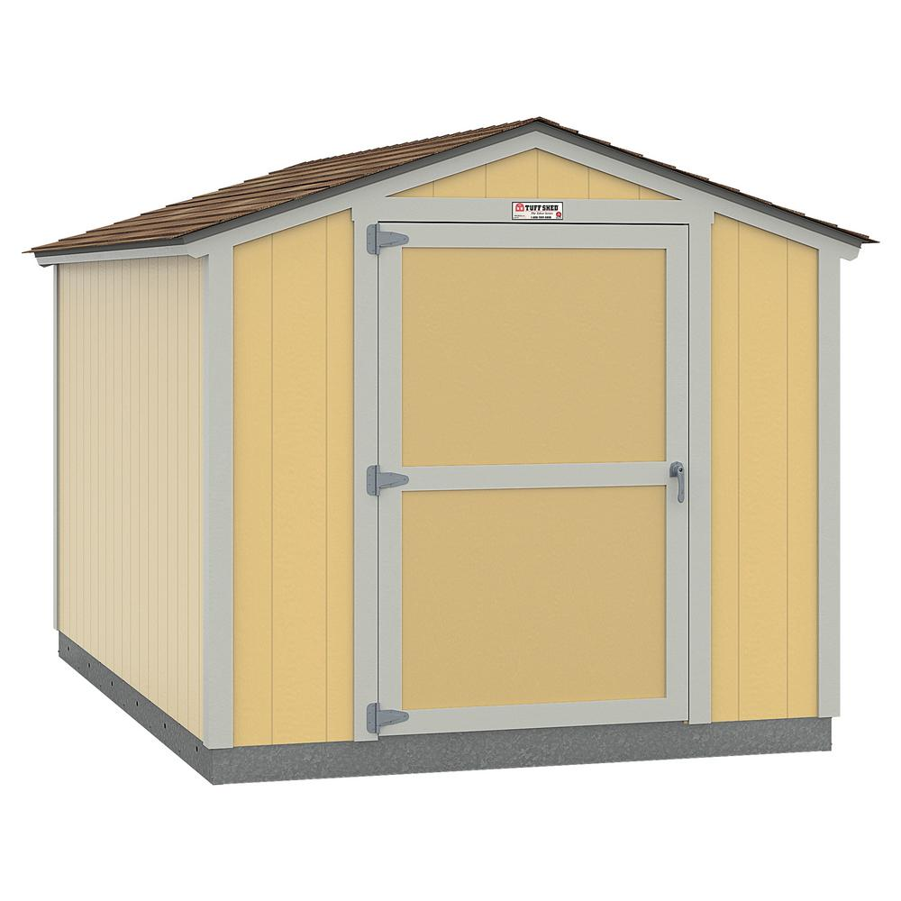 Tuff Shed Installed The Tahoe Series Standard Ranch 8 ft. x 12 ft. x 7 ft. 10 in. Painted Wood Storage Building Shed, Browns / Tans -  8x12 SR E1