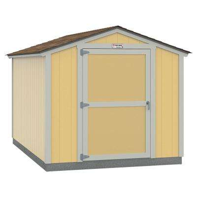 Installed Tahoe 8 ft. x 12 ft. x 7 ft. 10 in. Painted Wood Storage Building Shed with Shingles and Endwall Door