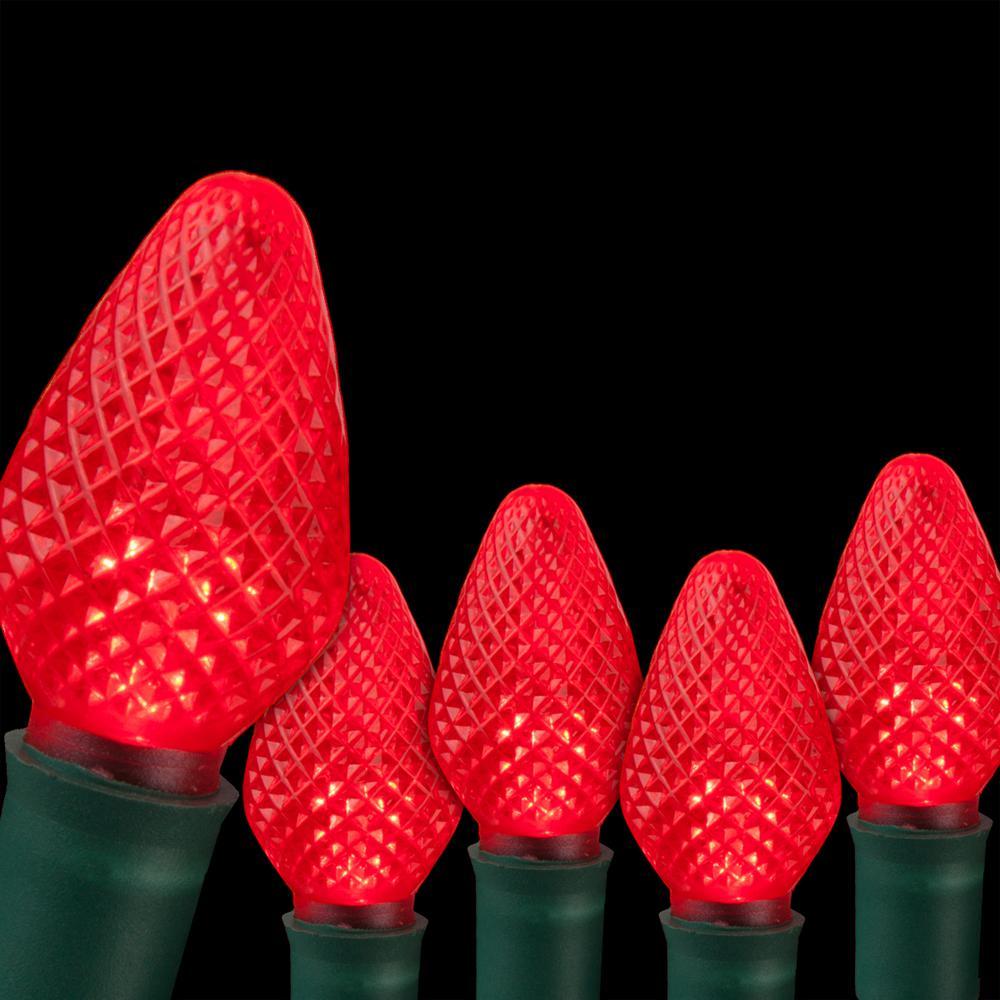 Wintergreen Lighting SuperBright 16 ft. 25-Light LED Red C7 String Light Set