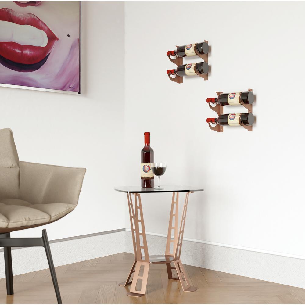 Eagle Edition 2-Bottle Wall Mounted Wine Rack (Single)