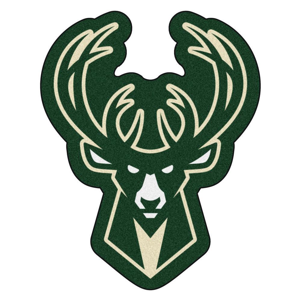 FANMATS NBA - Milwaukee Bucks Mascot Mat 28.3 in. x 36 in ...