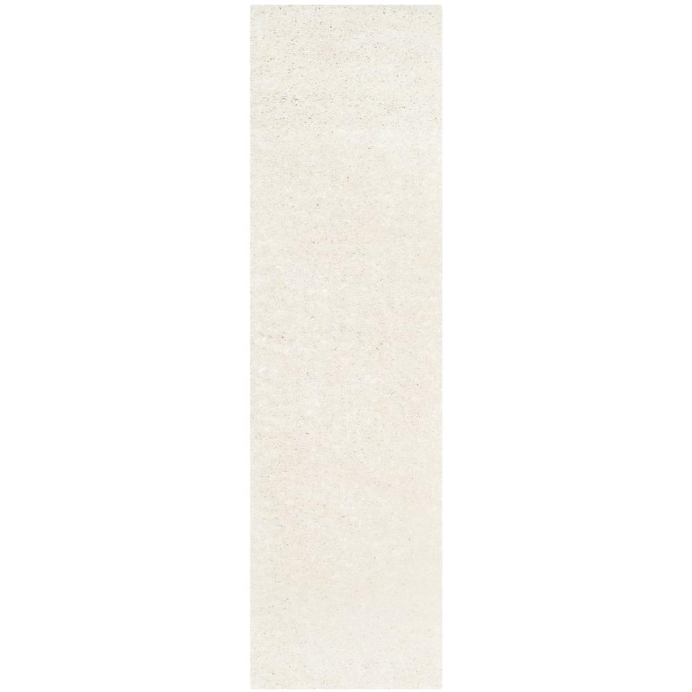 Athens Shag White 2 ft. 3 in. x 6 ft. Runner