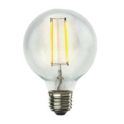60W Equivalent Warm White Light G25 Dimmable LED Filament Light Bulb (4-Pack)