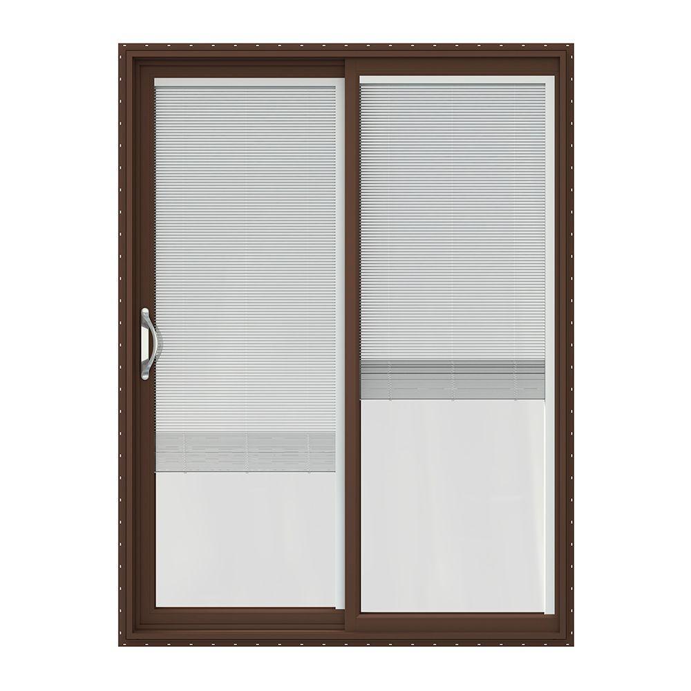 Single door patio doors exterior doors the home depot 60 in x 80 in v 2500 brown painted vinyl left hand planetlyrics Gallery