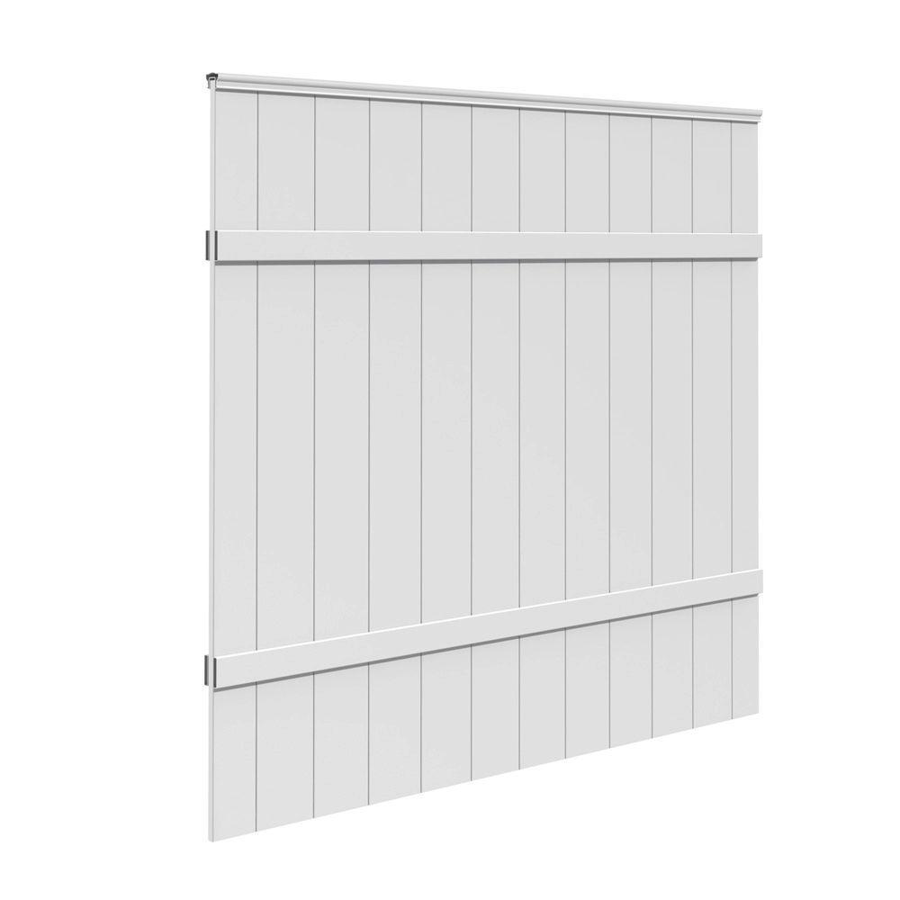 6 ft. H x 6 ft. W White Vinyl Windham Fence Panel