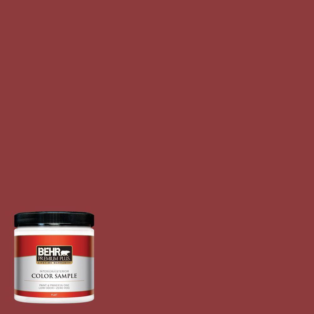 BEHR Premium Plus 8 oz. #S-H-180 Awning Red Interior/Exterior Paint Sample