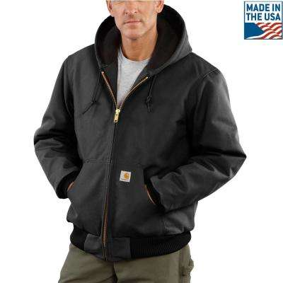 Men'S XX-Large Tall Black Cotton Quilted Flannel Lined Duck Active Jacket