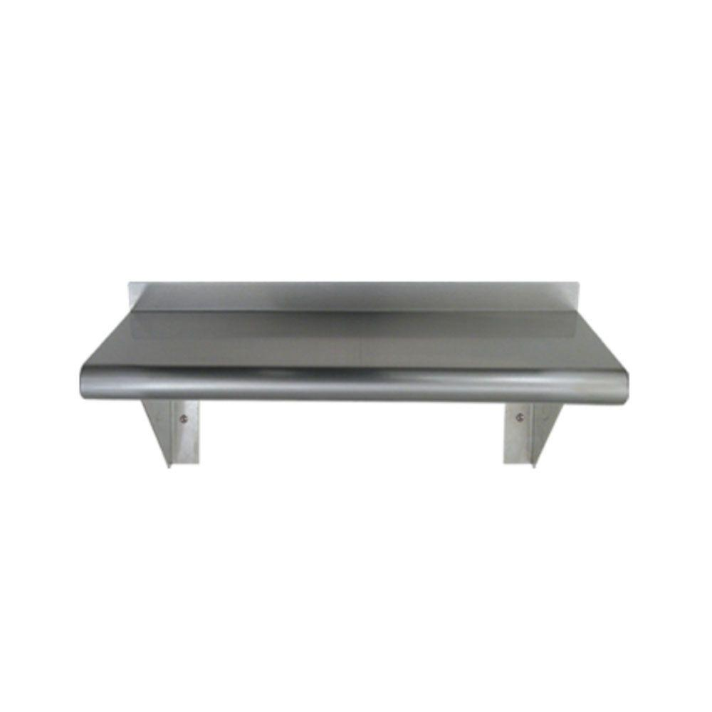 Whitehaus Collection 24 in. Pre-Assembled Stainless Steel Wall Mount Shelf