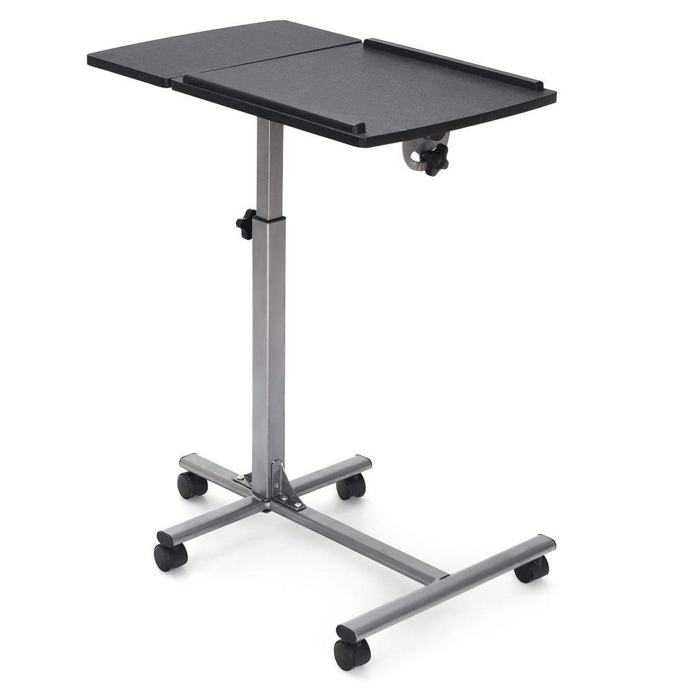 Best Choice Products Angle /& Height Adjustable Rolling Laptop Desk Cart Over Bed Hospital Table Stand