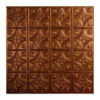 Traditional Style # 1 - 2 ft. x 2 ft. Vinyl Lay-In Ceiling Tile in Oil Rubbed Bronze