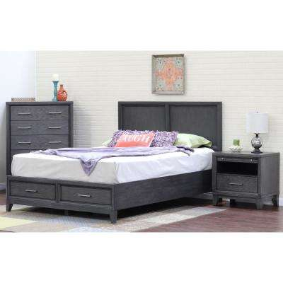 Superior Chelsea Gray Wash King Storage Bed