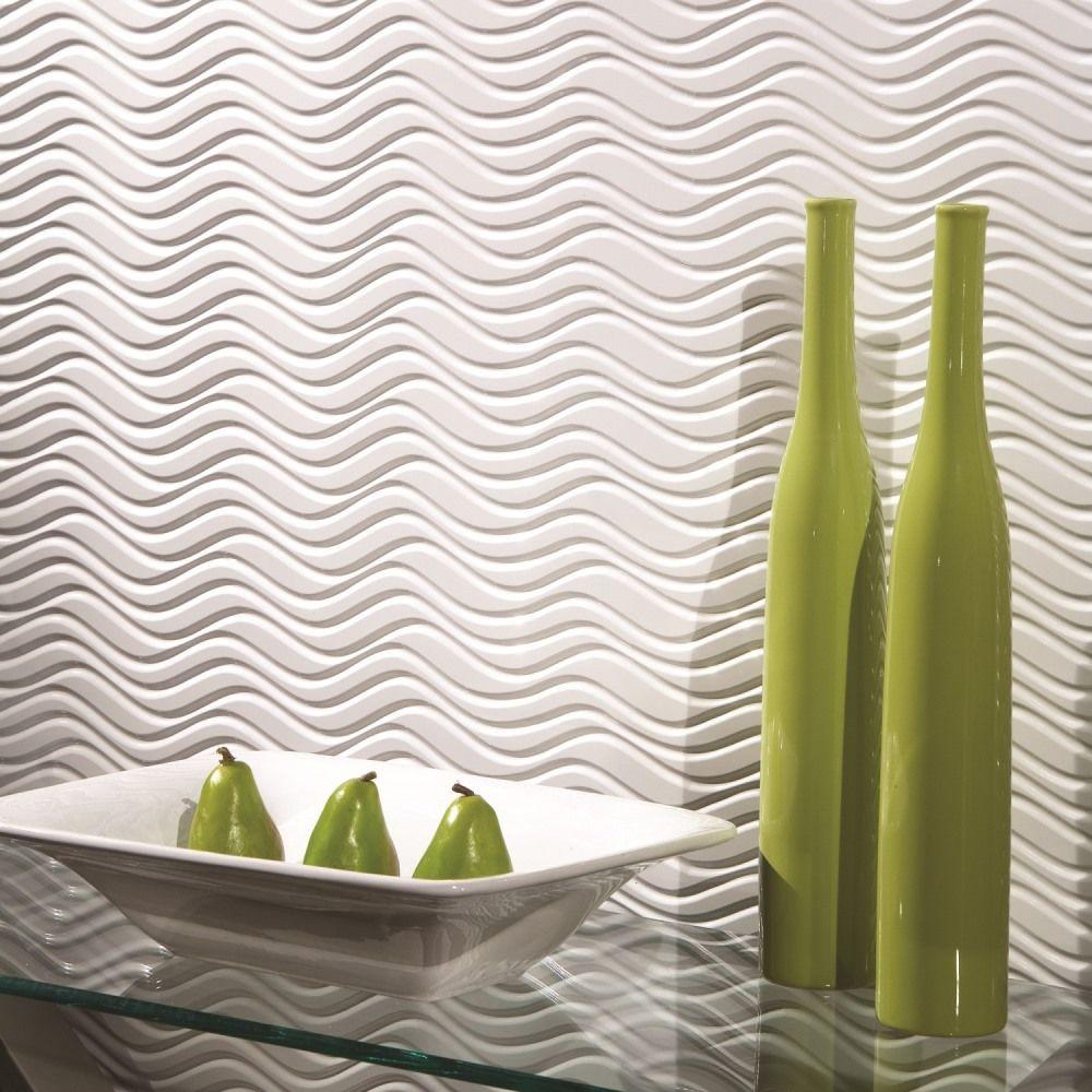 Fasade Current Horizontal 96 in. x 48 in. Decorative Wall...