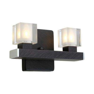 Tenno 2-Light Antique Brown Flushmount Sconce