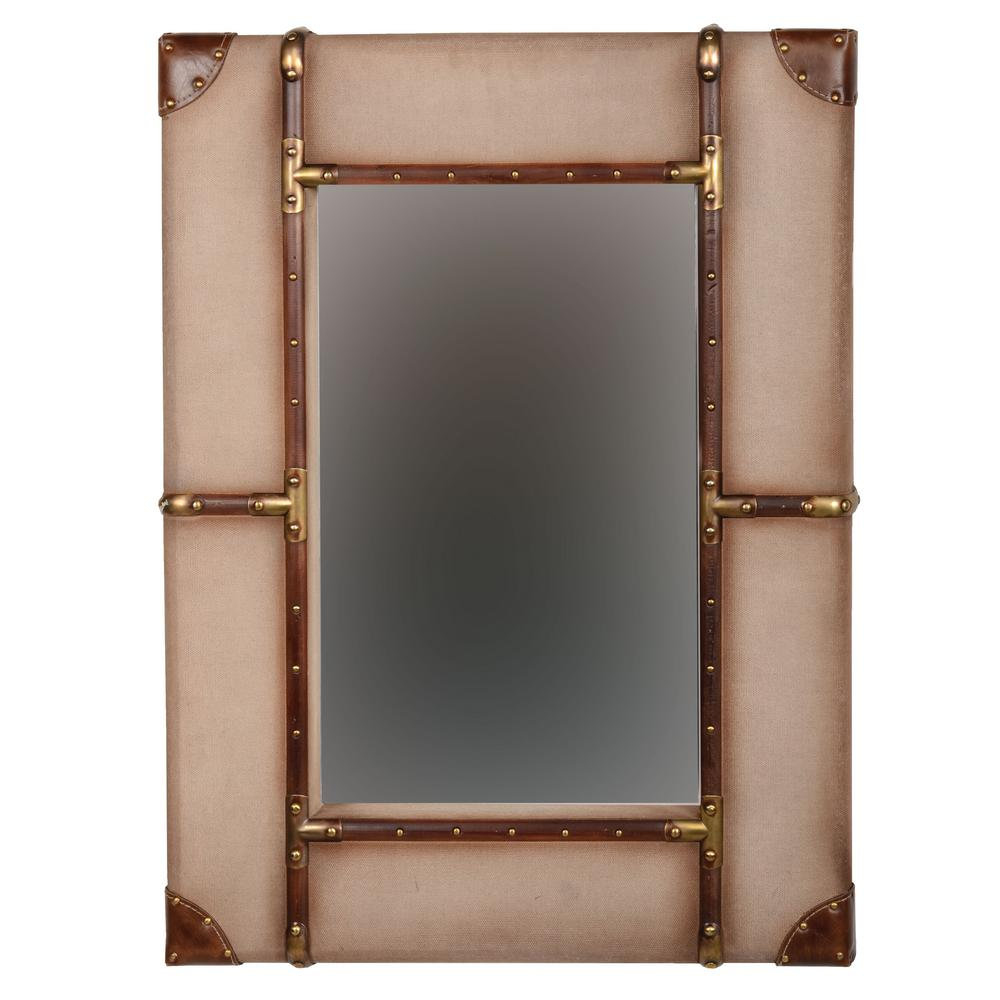 Linon Large Vintage Framed Wall Mirror