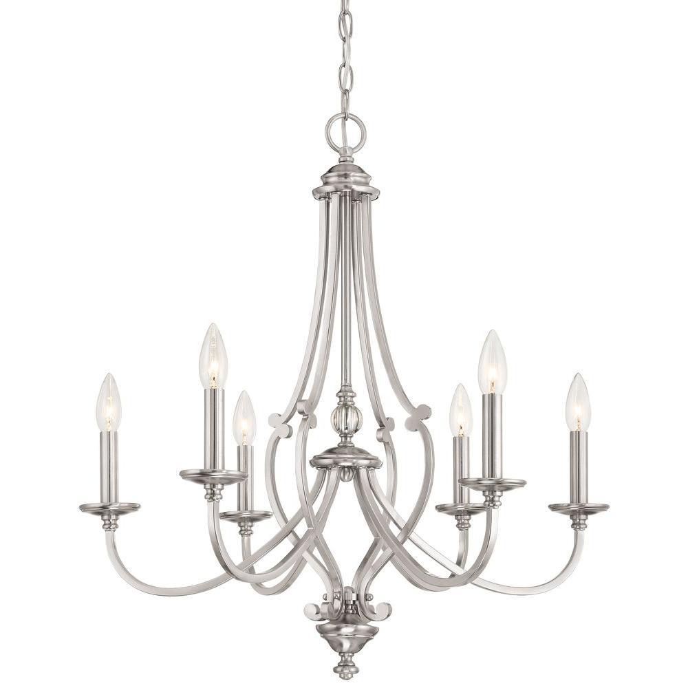Savannah Row 6-Light Brushed Nickel Chandelier
