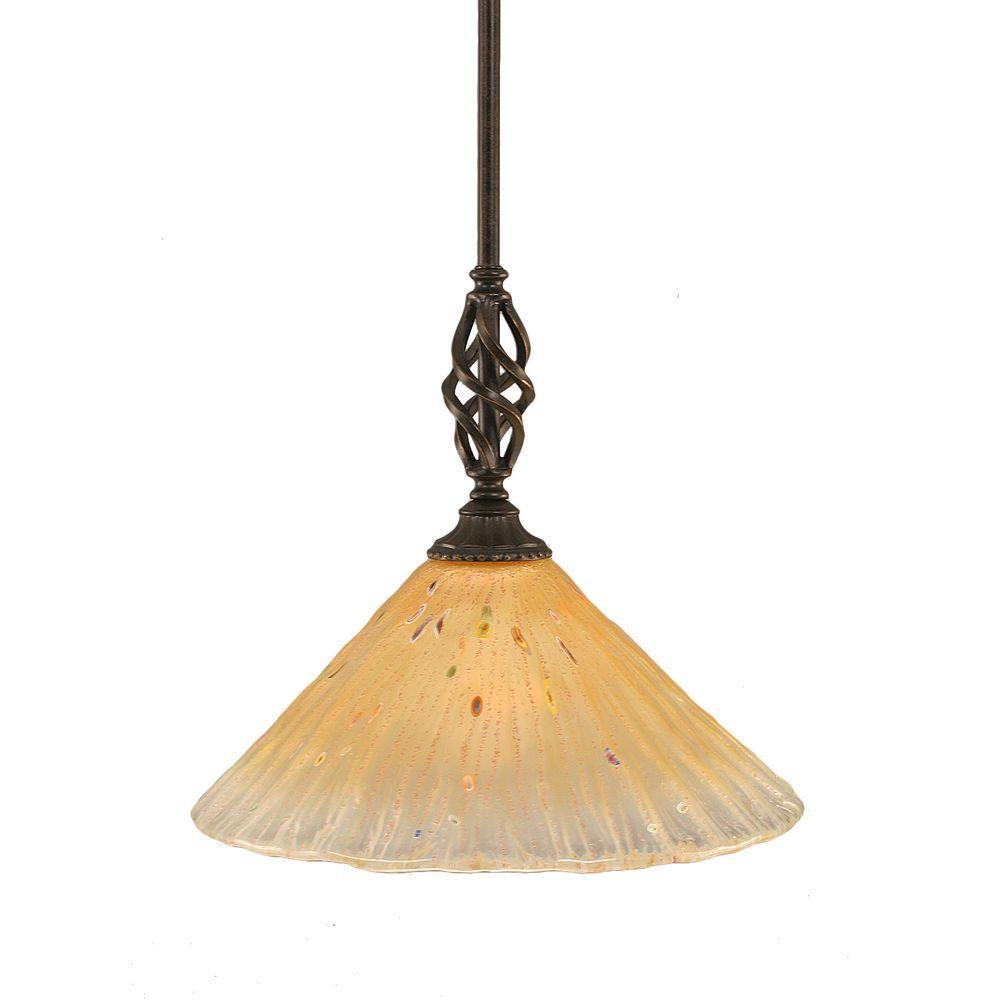 Filament Design Concord 1-Light Dark Granite Pendant