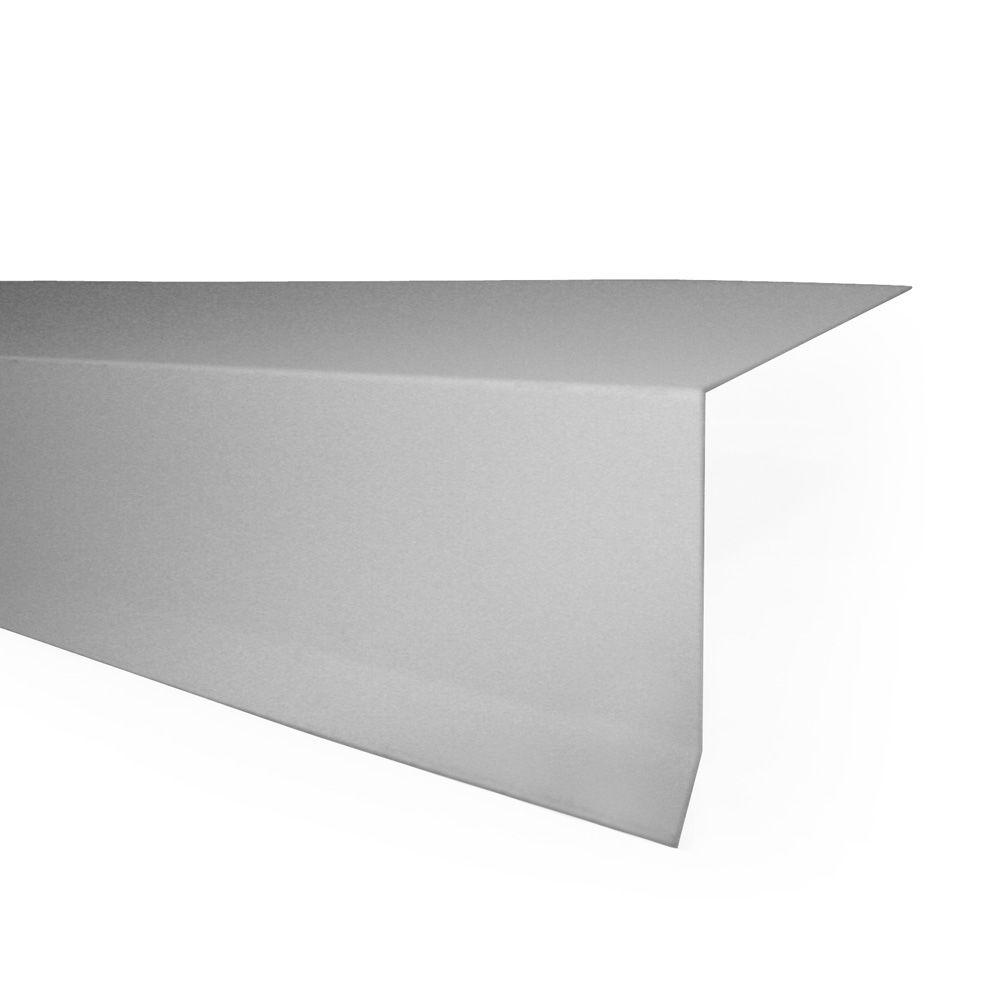 10 ft. Eave Flashing Galvanized 26-Gauge Steel Roof Flashing in Bone