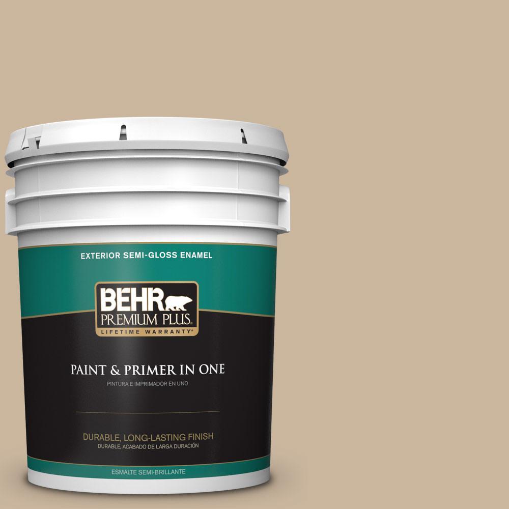 5 gal. #PPU4-07 Mushroom Bisque Semi-Gloss Enamel Exterior Paint