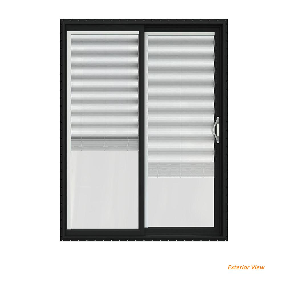 Jeld Wen 60 In X 80 In V 2500 Bronze Painted Vinyl Right Hand Full